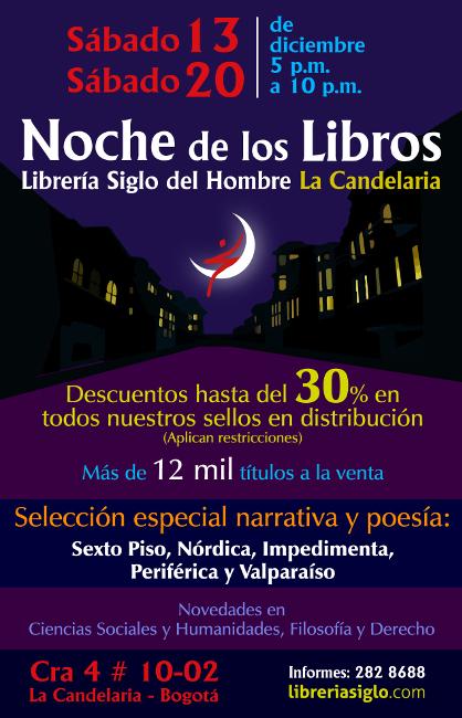 Descuentos hasta del 30% durante la noche de los libros